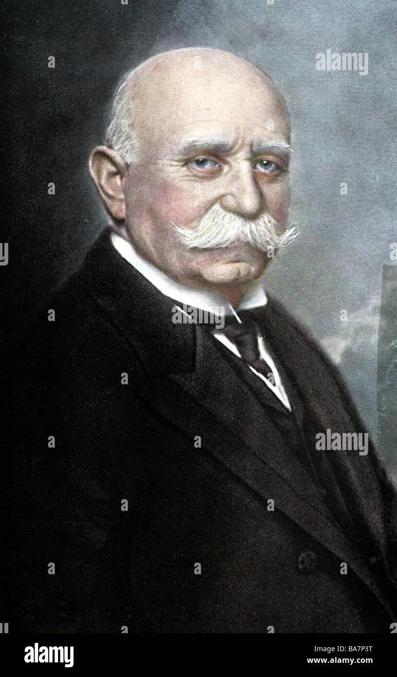 Zeppelin, Ferdinand Count of , 8.7.1838 - 8.3.1917, German aeronautic pioneer, portrait, , Additional-Rights-Clearances - Stock Image