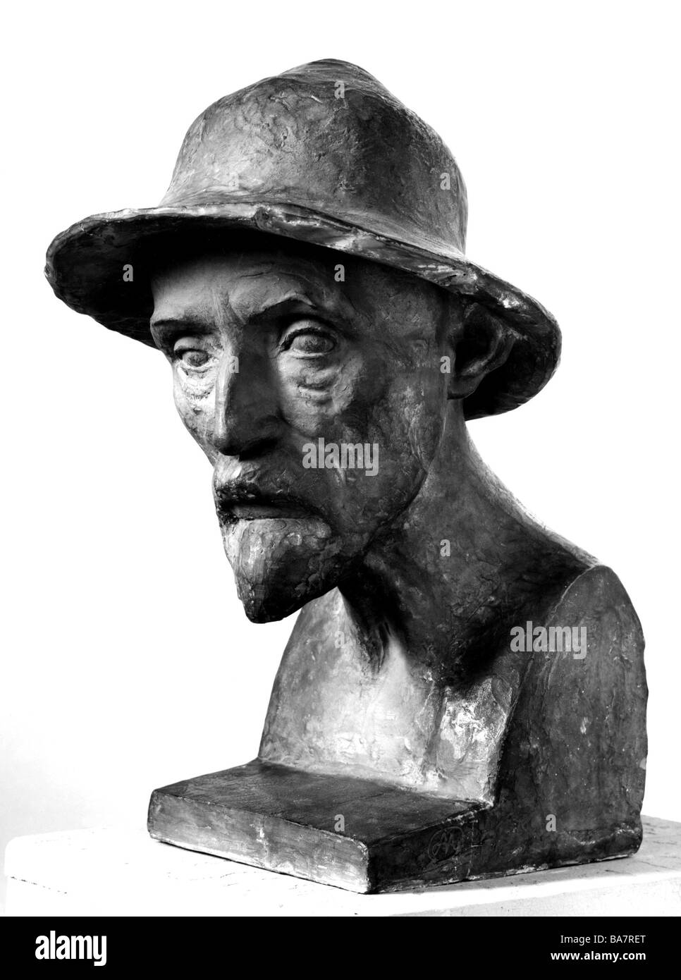 Renoir, Pierre-Auguste 25.2. 1841 - 3.12.1919, French painter, portrait, bust by Aristide Maillol, 1907, Additional - Stock Image