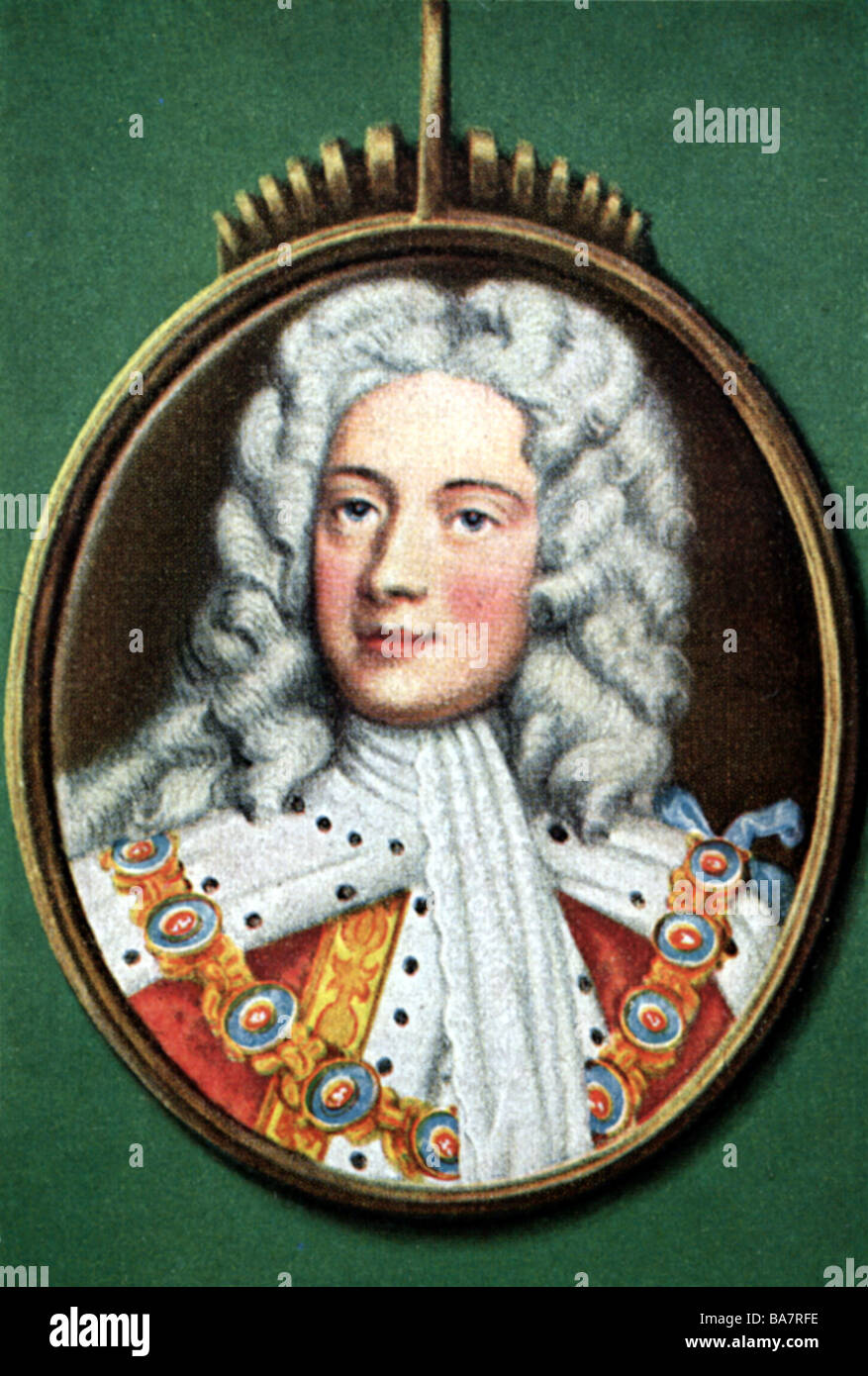 George II, 30.10.1683 - 25.10.1760, King von , Additional-Rights-Clearances-NA - Stock Image