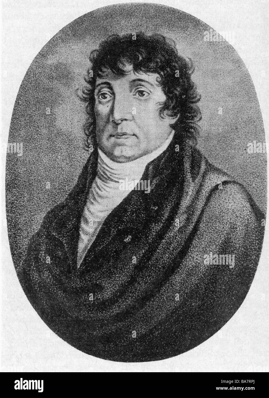 Schikaneder, Emanuel, 1.9.1751 - 21.9.1812, portrait, after contemporary lithograph, , Additional-Rights-Clearances - Stock Image