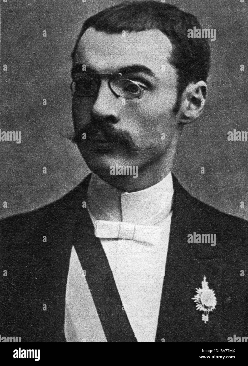 Humbert, Frederic, French crime, husband of Therese Humbert, portrait, circa 1910, , Additional-Rights-Clearances - Stock Image