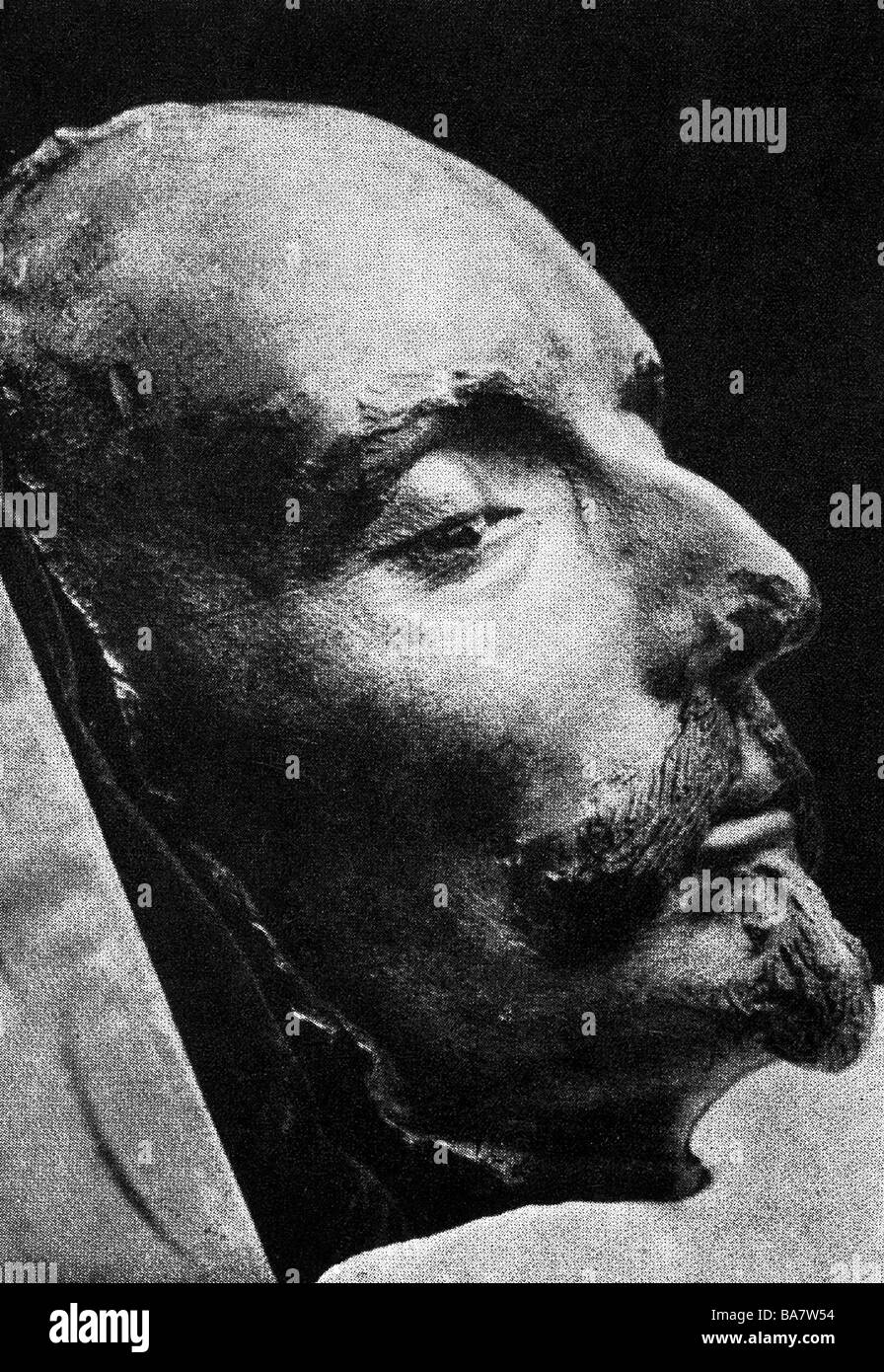 Shakespeare, William, 23.4.1564 - 23.4.1616, English poet, his death mask, Additional-Rights-Clearances-NA - Stock Image