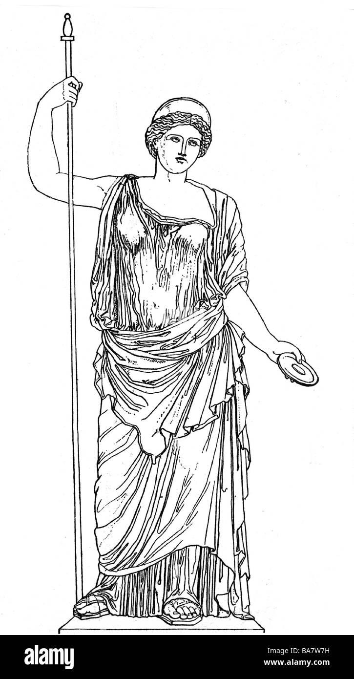 Hera Greek Deity Juno Sister And Wife Of Zeus Full Length Stock