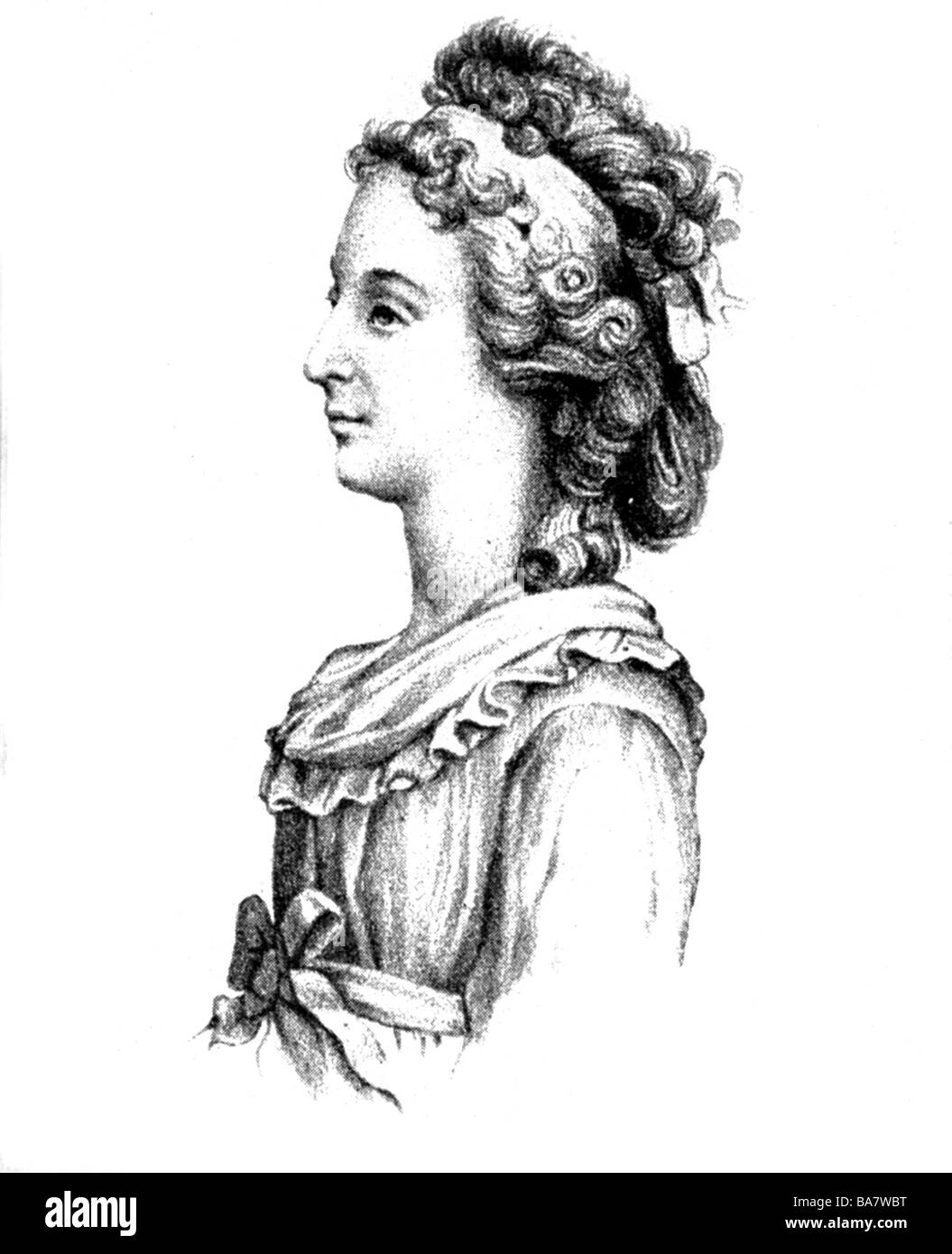 Marie Therese Charlotte of France, 19.12.1778 - 19.10.1851,  Duchess of Angouleme, daughter of Marie Antionette - Stock Image