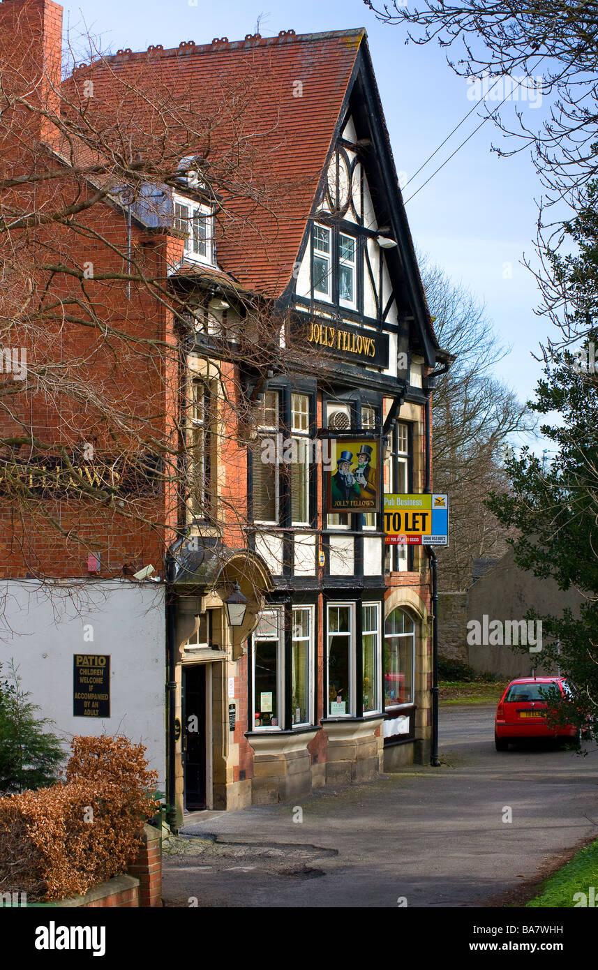 The Jolly Fellows public house ryton village tyne and wear exterior - Stock Image