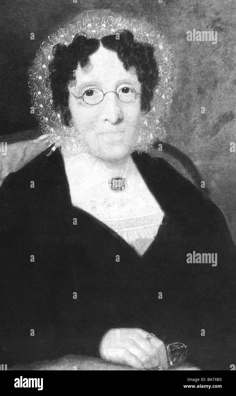Tussaud, Marie 'Madame', born Grosholtz, 1.12.1761 - 16.4.1850, French wax sculptor, portrait, 'Self - Stock Image