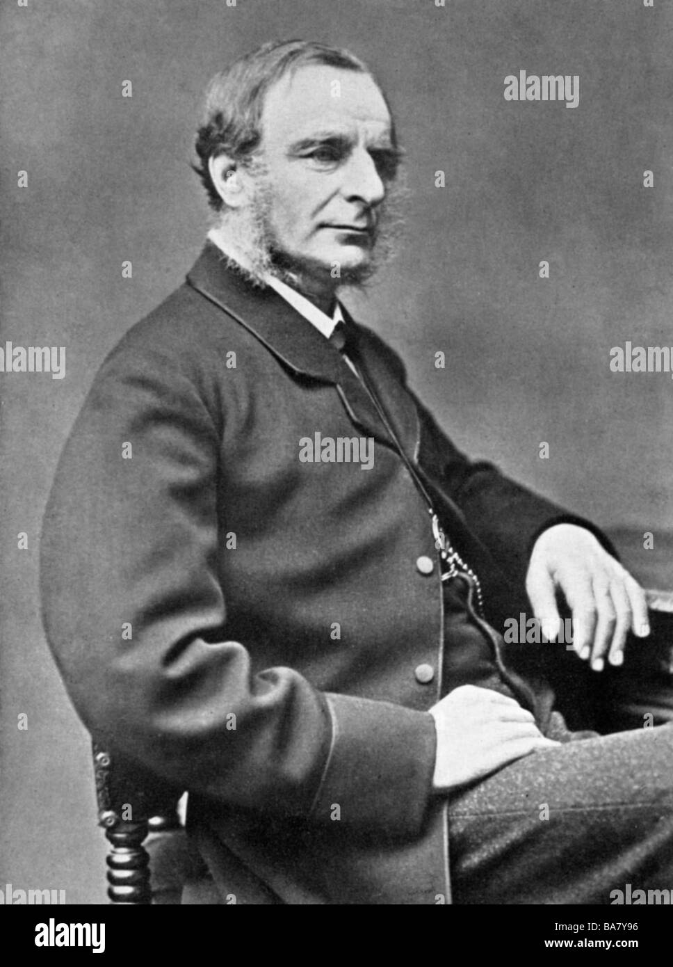 Kingsley, Charles, 12.6.1819 - 23.1.1875, English author / writer, half length, photo by Draycott, Birmingham, Additional - Stock Image