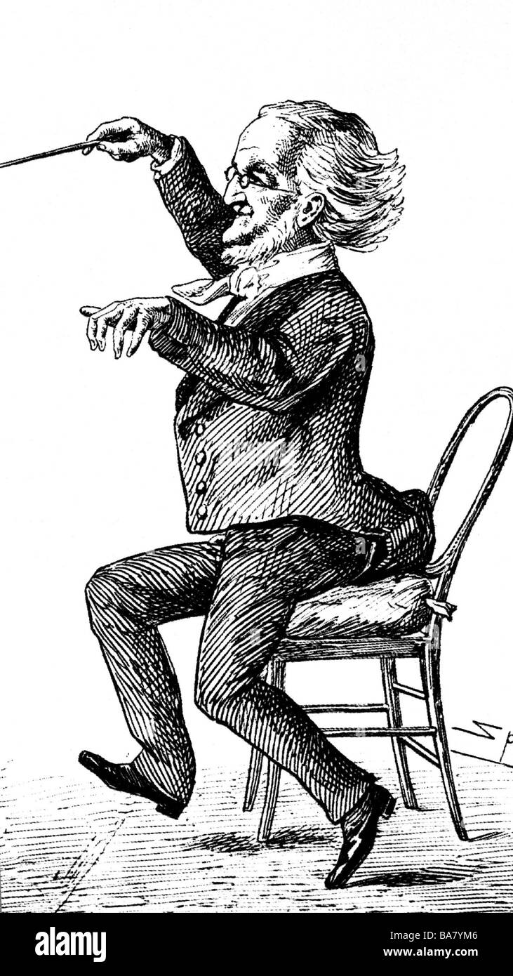 Wagner, Richard, 22.5.1813 - 13.2.1883, German composer, caricature by Spy, Additional-Rights-Clearances-NA - Stock Image