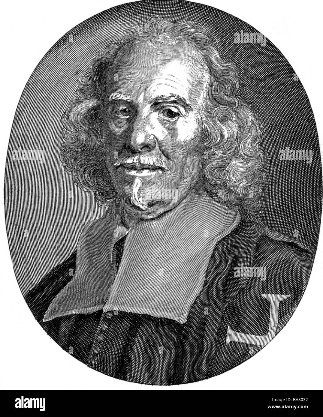 Bernini, Gian Lorenzo, 7.12.1598 - 28.11.1680, Italian sculptor and architect, portrait, copper engraving by A. - Stock Image