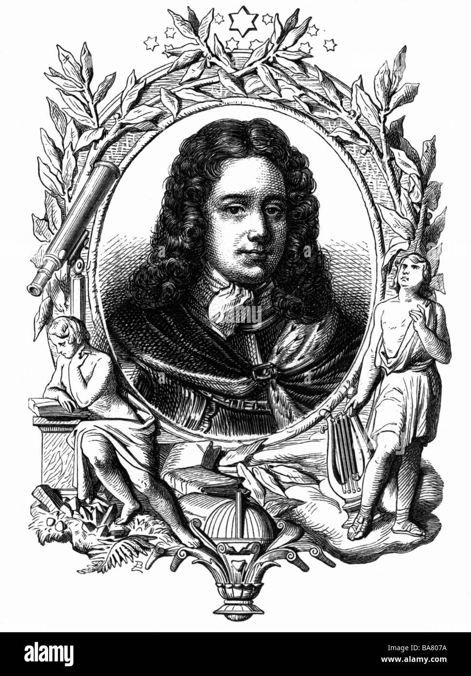 Rouvroy, Louis de, Herzog von Saint-Simon, 16.1.1675 - 2.3.1755, French politician, author / writer, portrait, wood - Stock Image