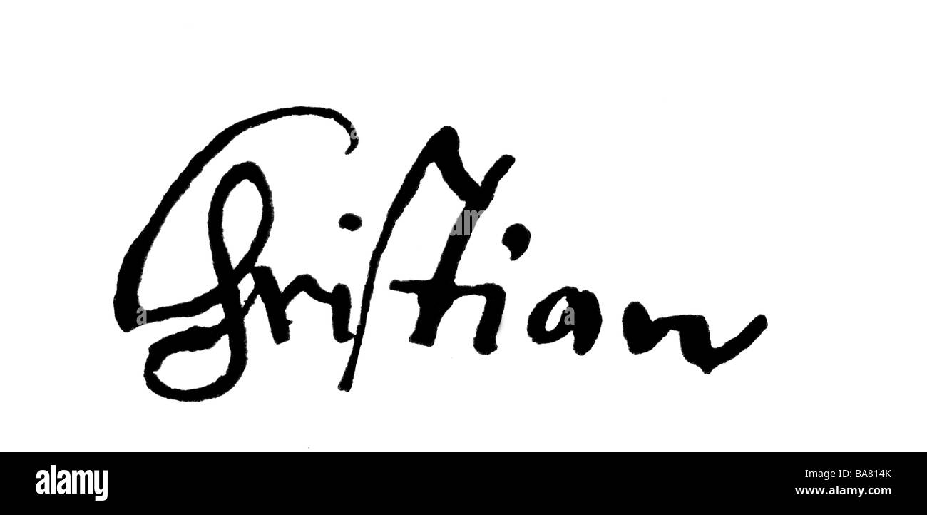 Christian IV, 12.4.1577 - 28.2.1648, King of Denmark and Norway 1588 -  1648, his signature, , Additional-Rights-Clearances-NA