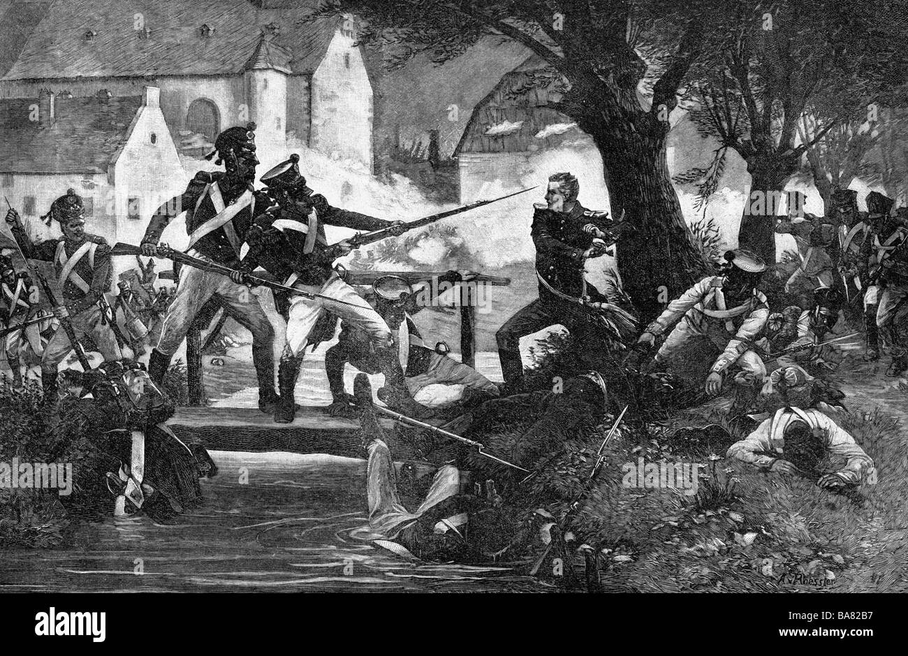 events, War of the Sixth Coalition, Hundred Days, Battle of Ligny, 16.6.1815, Additional-Rights-Clearances-NA - Stock Image