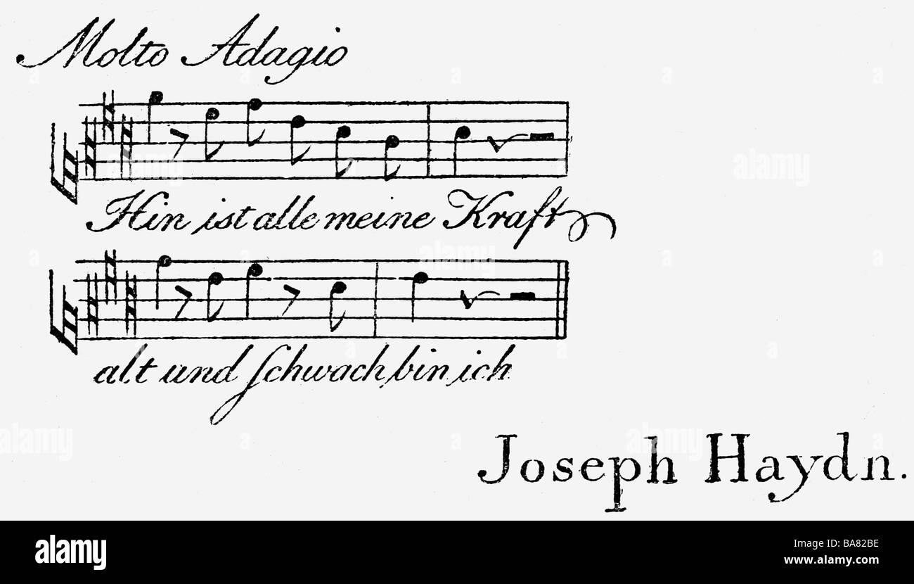Haydn, Joseph, 31.3.1732 - 31.5.1809, Austrian composer, business ...