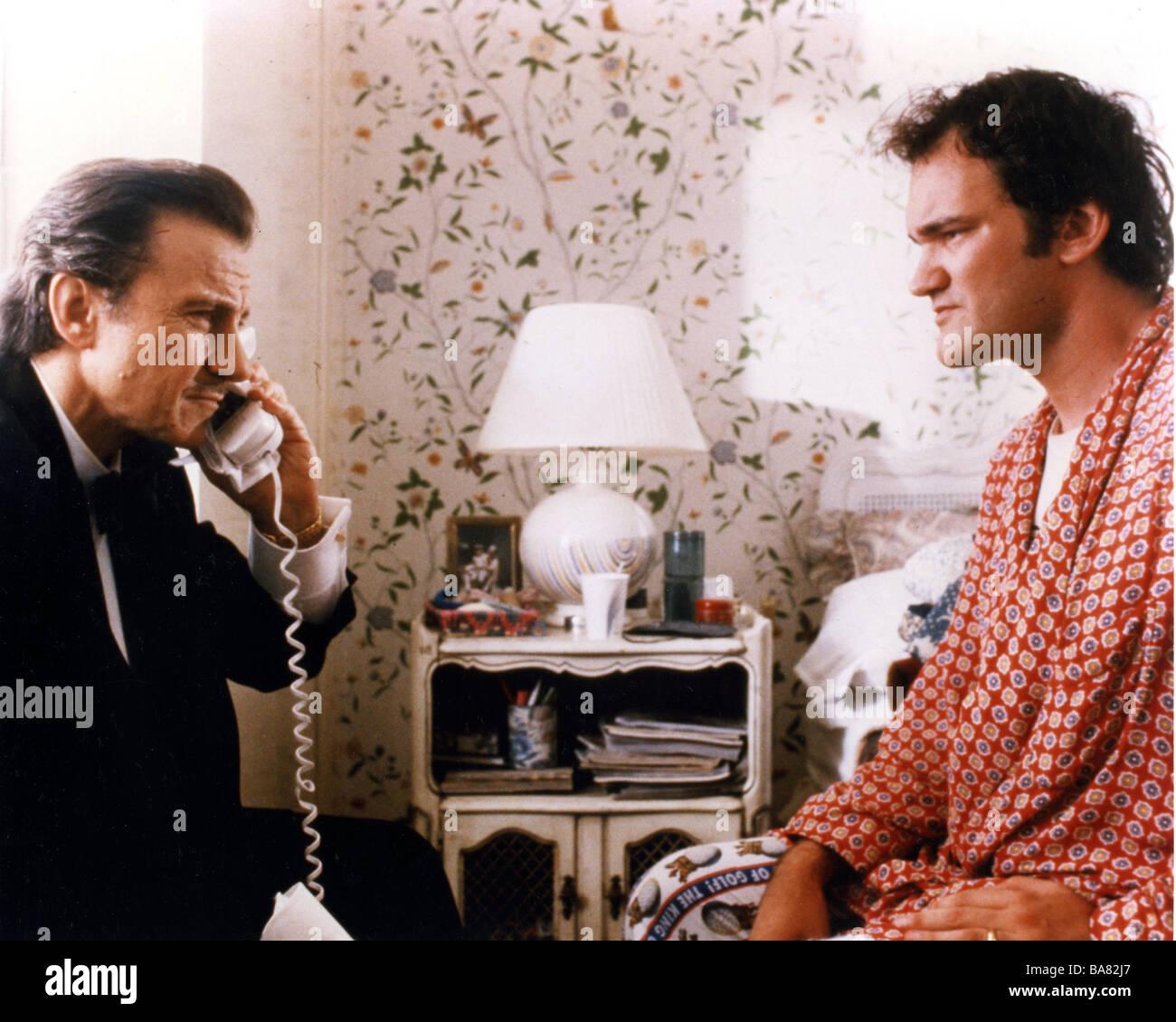 PULP FICTION  1994 Buena Vista film with Harvey Keitel at left and Quentin Tarantino Stock Photo