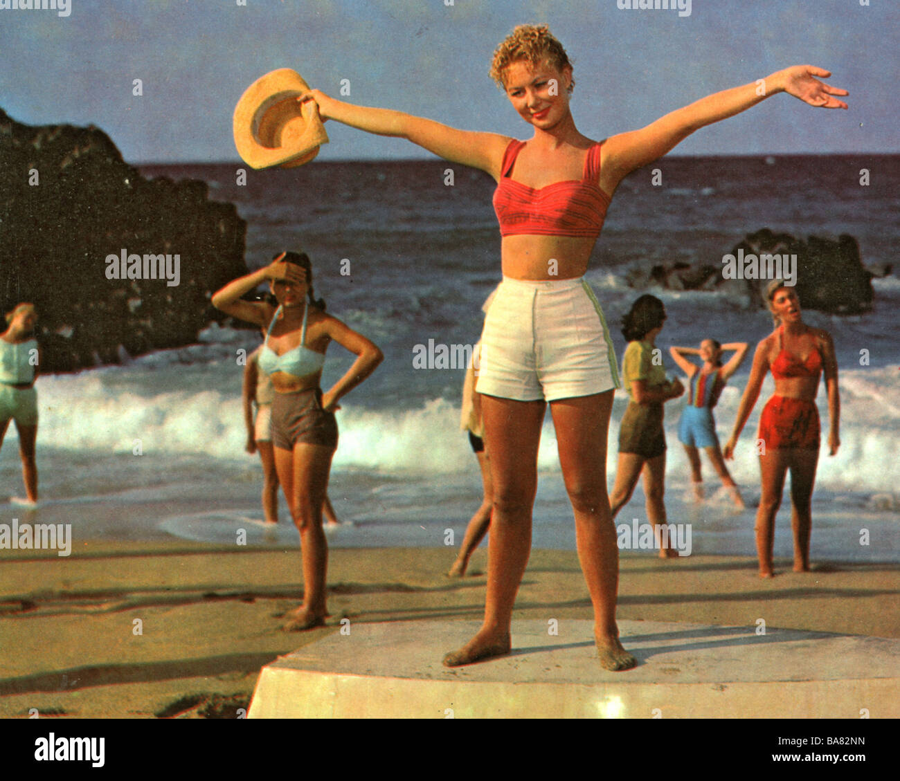 SOUTH PACIFIC 1958 Magna film with Mitzi Gaynor - Stock Image