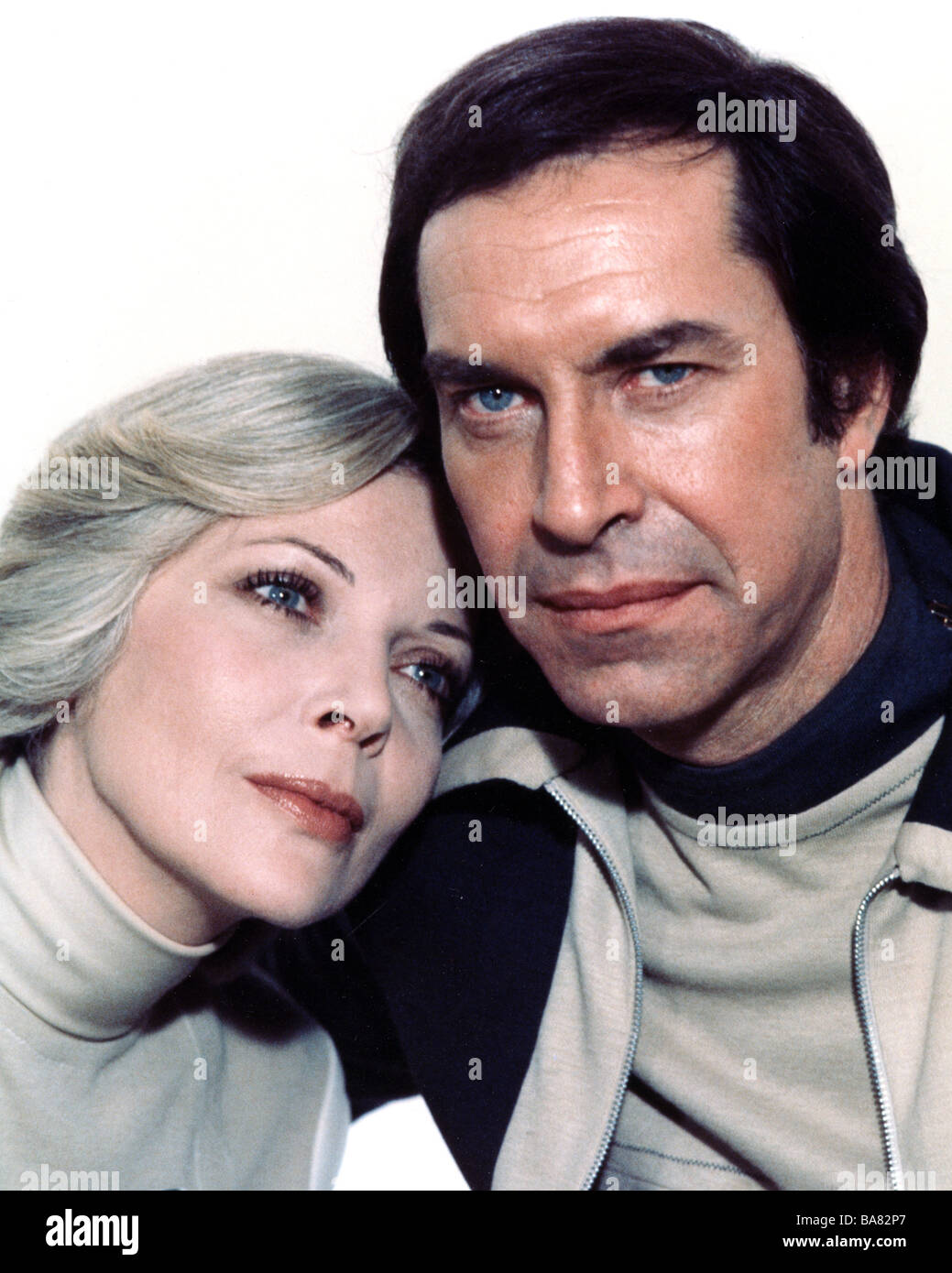 SPACE 1999 UK TV series with Martin Landau and Barbara Bain Stock Photo