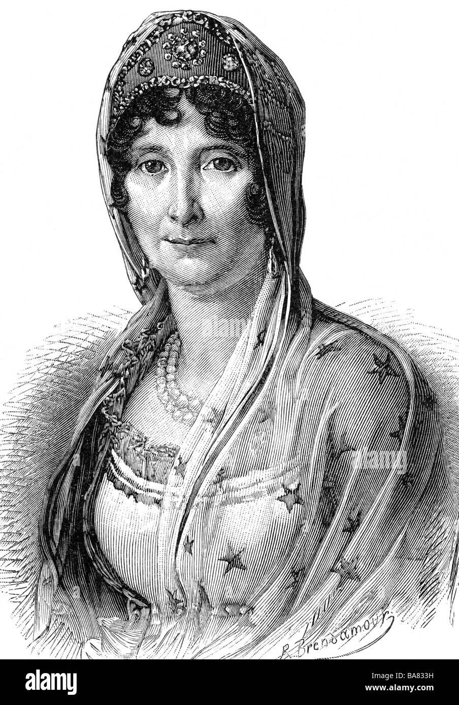 Buonaparte, Laetizia, 24.8.1750 - 2.5.1836, Corsican noblewoman, portrait, wood engraving, 19th century, , Stock Photo