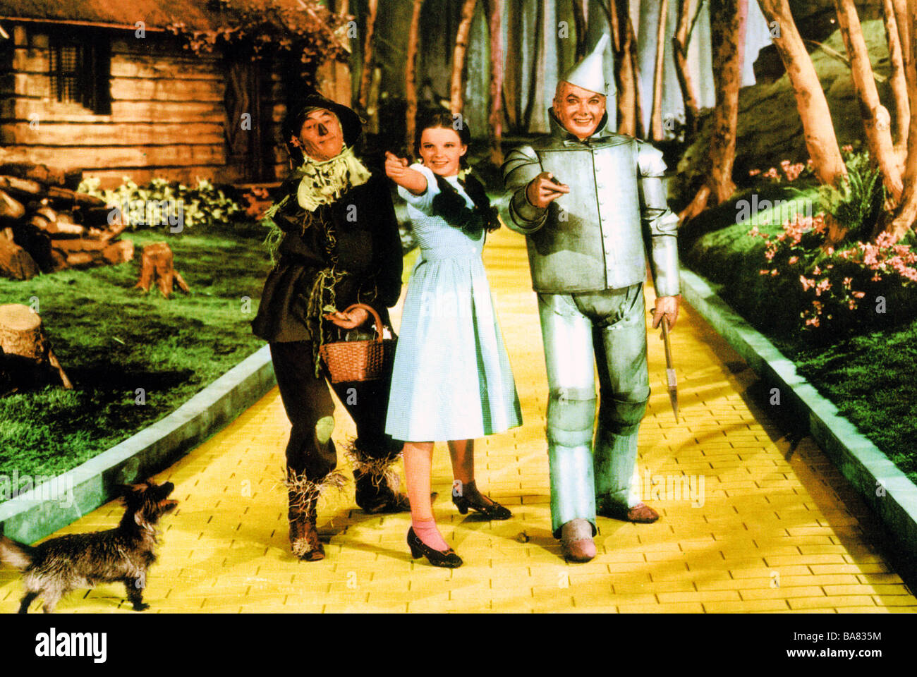 The Wizard Of Oz 1939 Mgm Film With From Left Ray Bolger As The