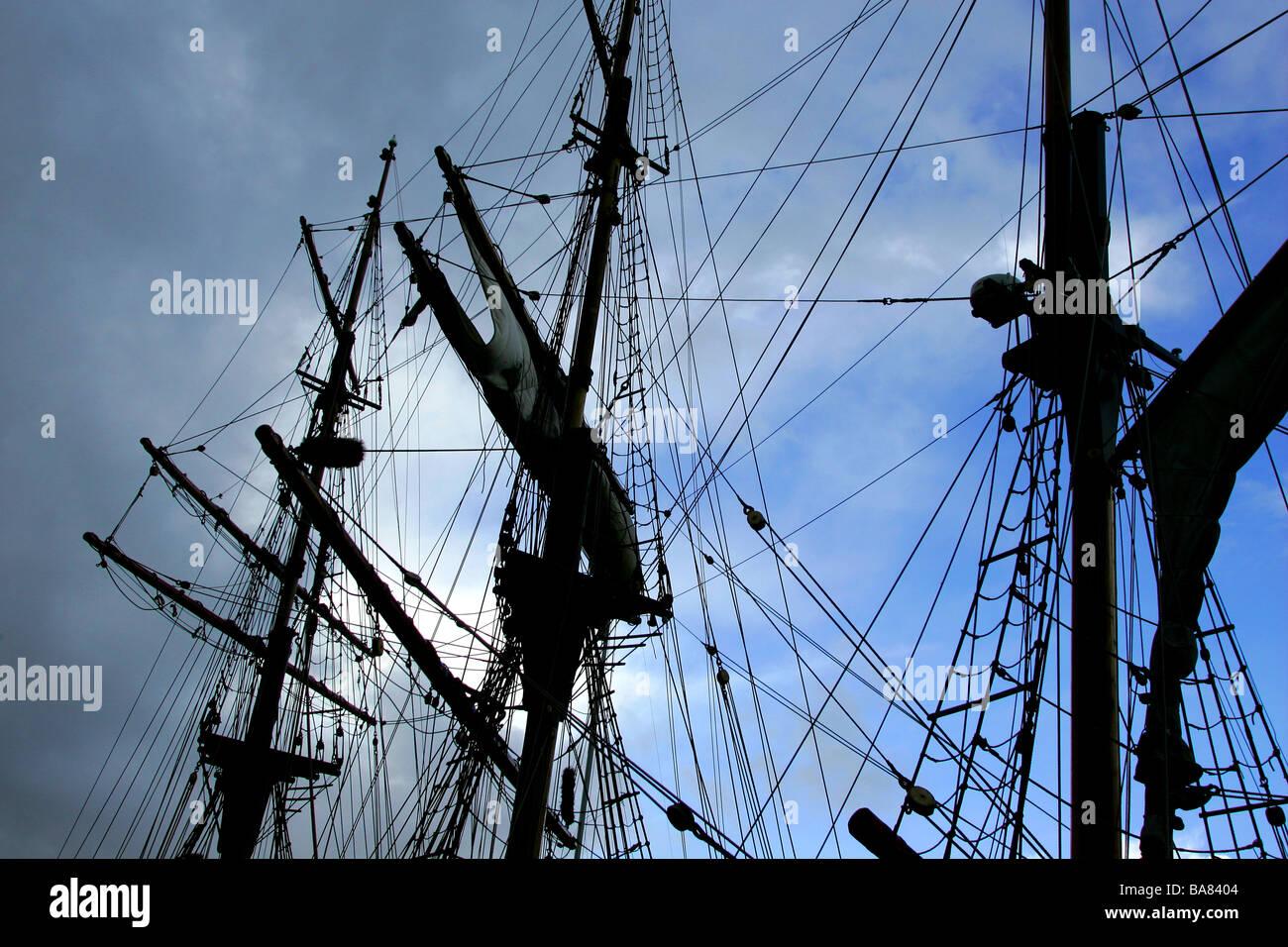 rigging - Stock Image