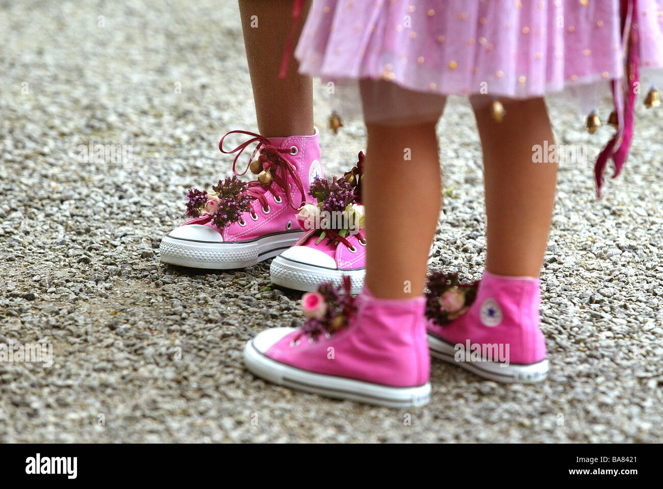 Girls in pink - Stock Image