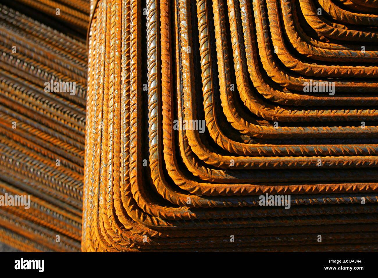 Steel rods - Stock Image
