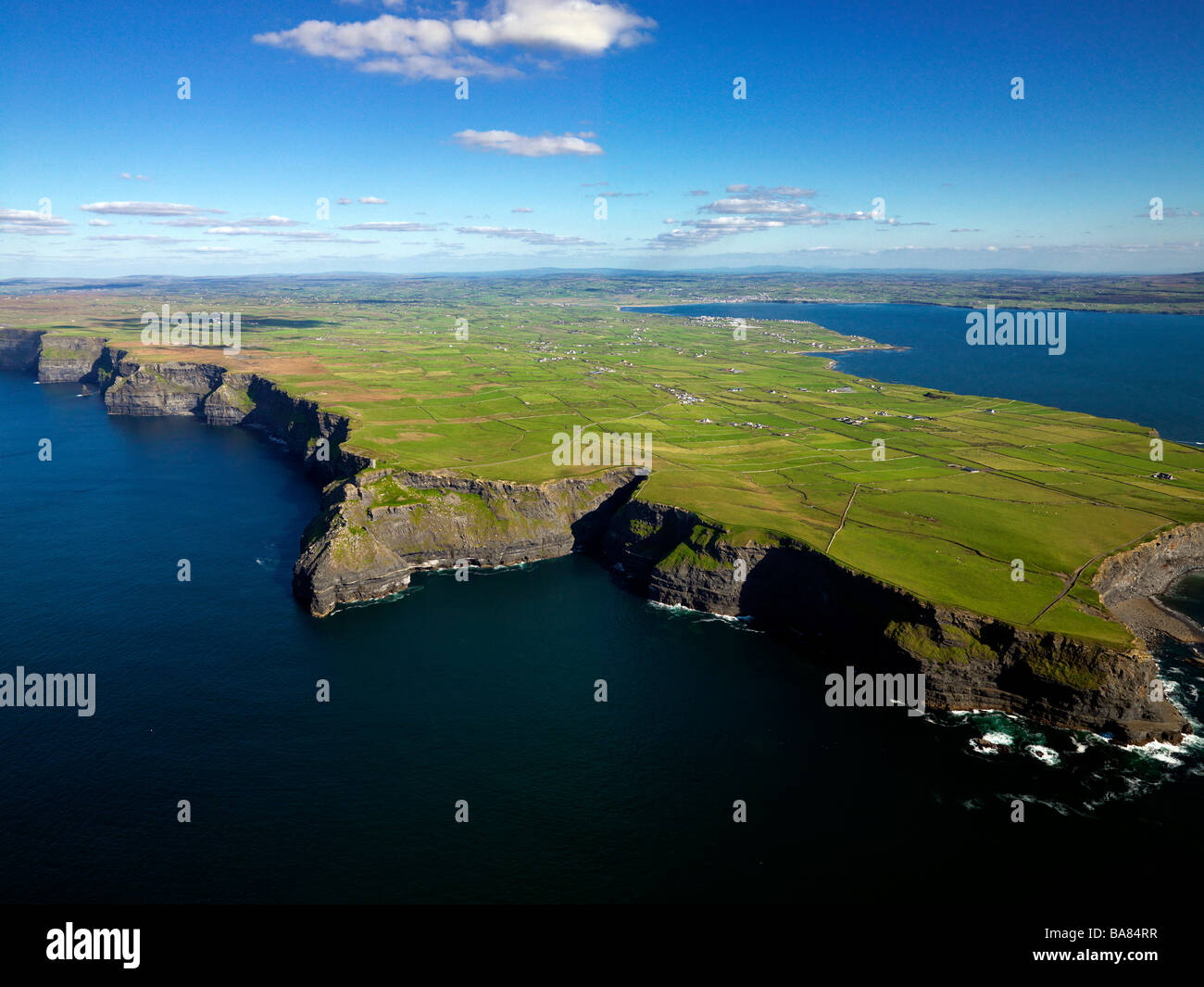 Cliffs of Moher Co. Clare Aerial Ireland. - Stock Image