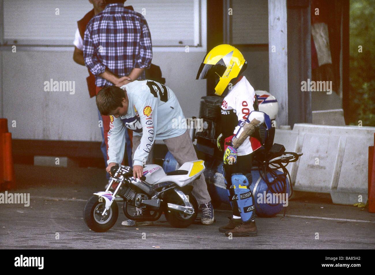 Mini Moto Race   Stock Image