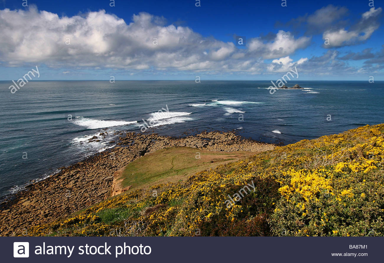 Gribba Point West Cornwall - Stock Image