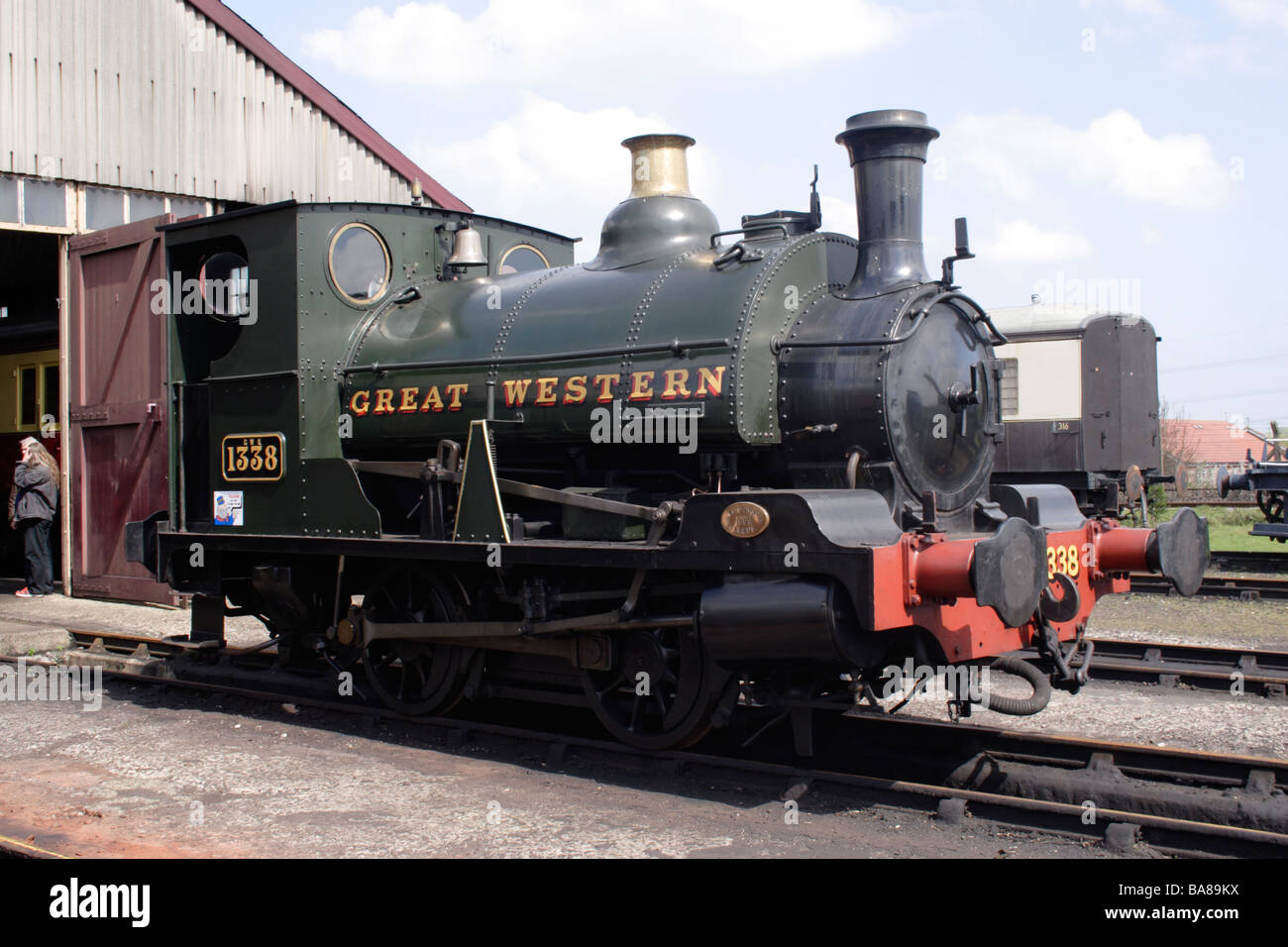 Great Western Class CR steam locomotive built 1898 at Didcot Railway Centre April 2009 - Stock Image