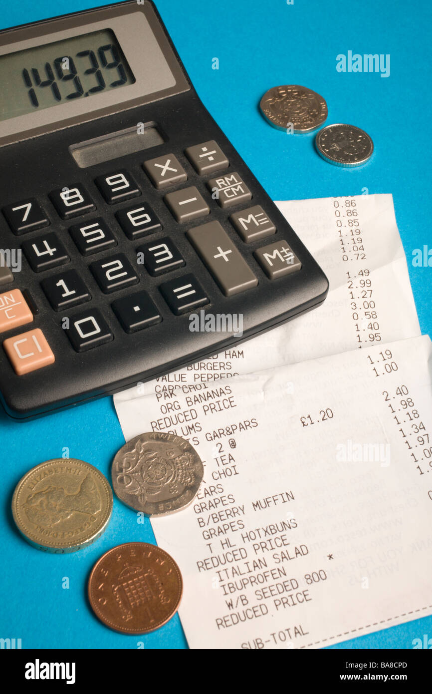 Budgeting, cost of living, concept. - Stock Image
