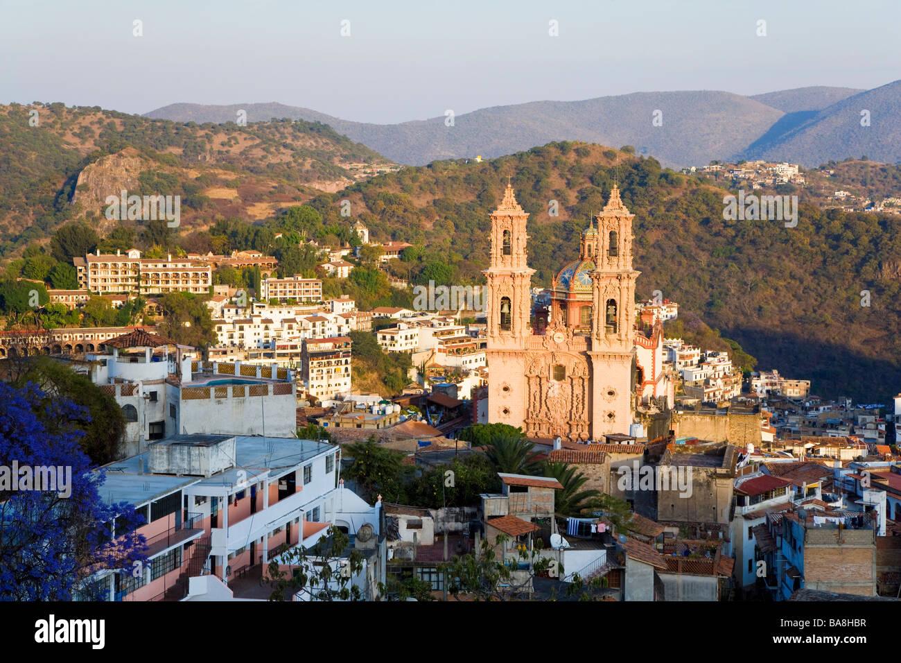 Santa Prisca Church Taxco, Guerrero State, Mexico - Stock Image