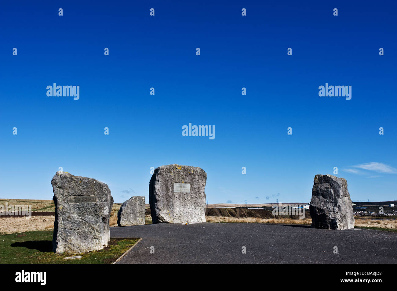 The Aneurin Bevan Stones near Tredegar in Wales.  Photo by Gordon Scammell - Stock Image