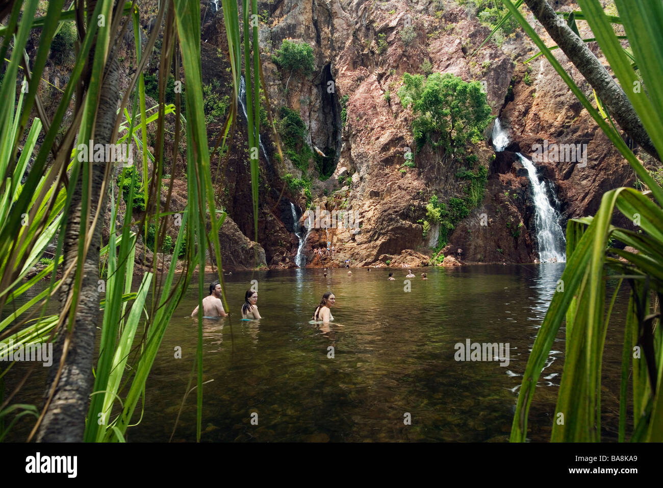 Wangi Falls. Litchfield National Park, Northern Territory, AUSTRALIA. - Stock Image
