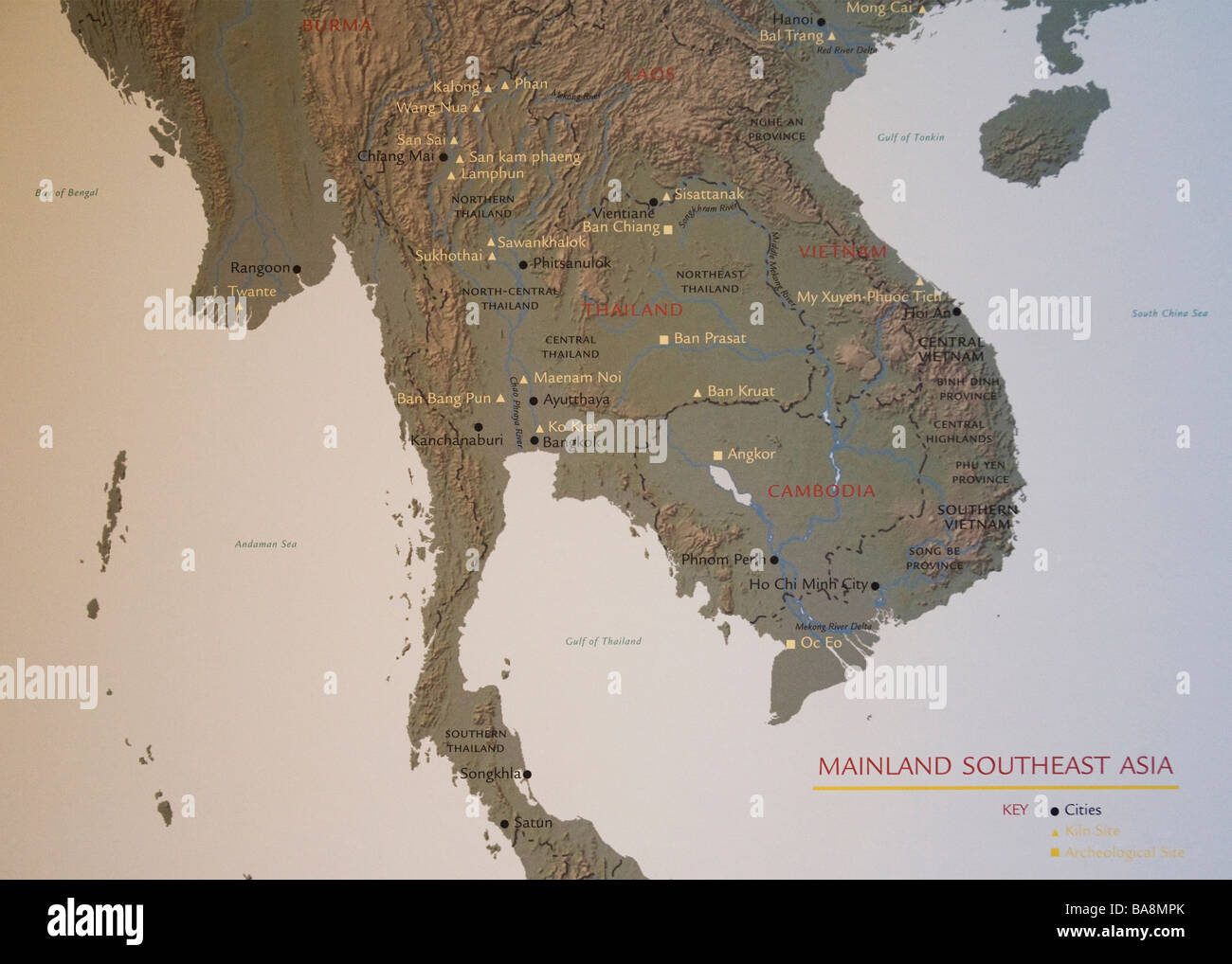 Map Of Cambodia Vietnam Thailand Laos Stock Photos Map Of Cambodia