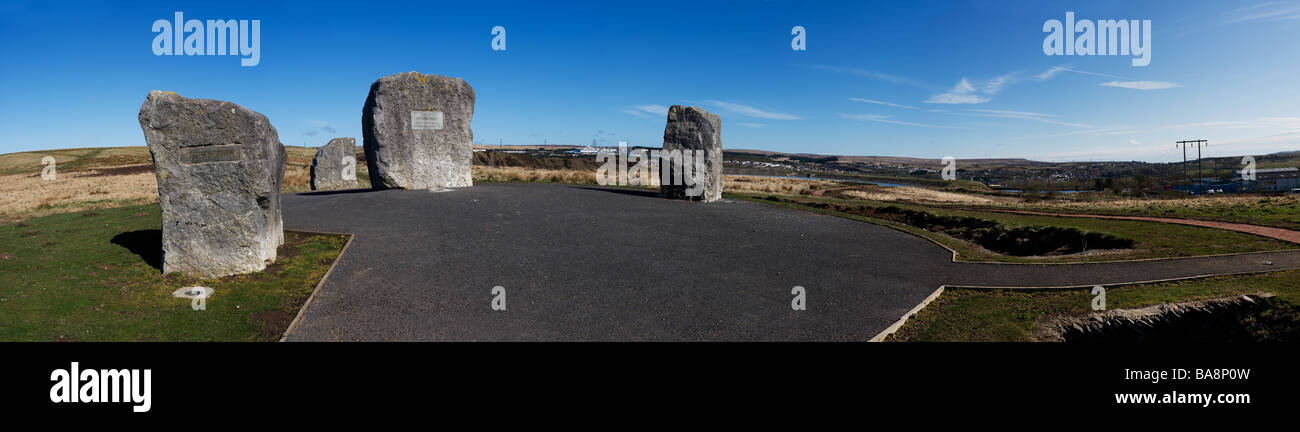 A panoramic view of the Aneurin Bevan Stones near Tredegar in Wales.  Photo by Gordon Scammell - Stock Image