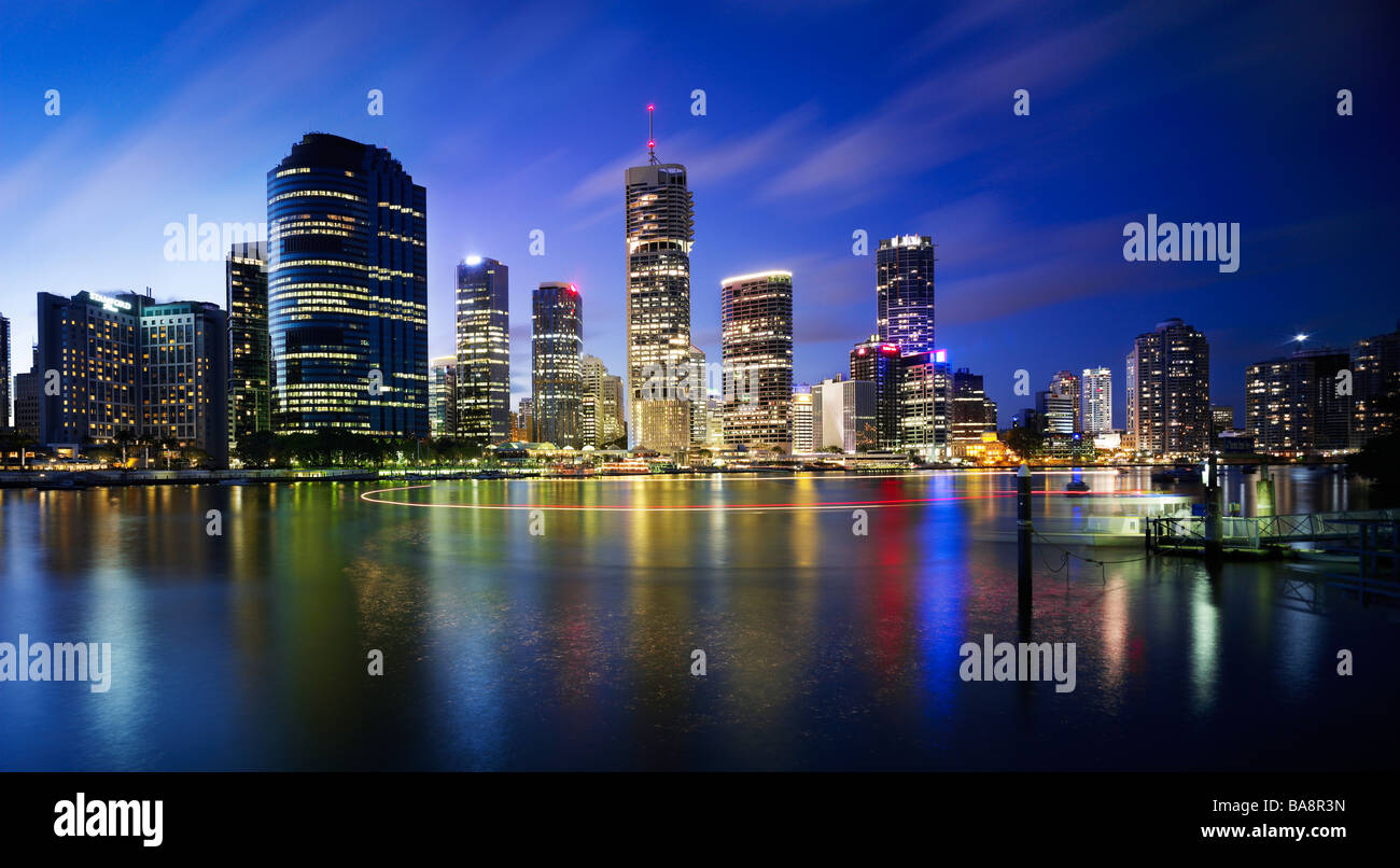 Brisbane city night skylineStock Photo
