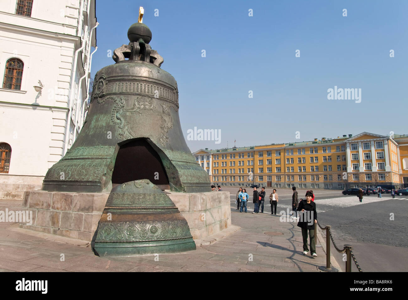 The Great Bell, Tsar's Bell Kremlin Moscow, Russia. Stock Photo