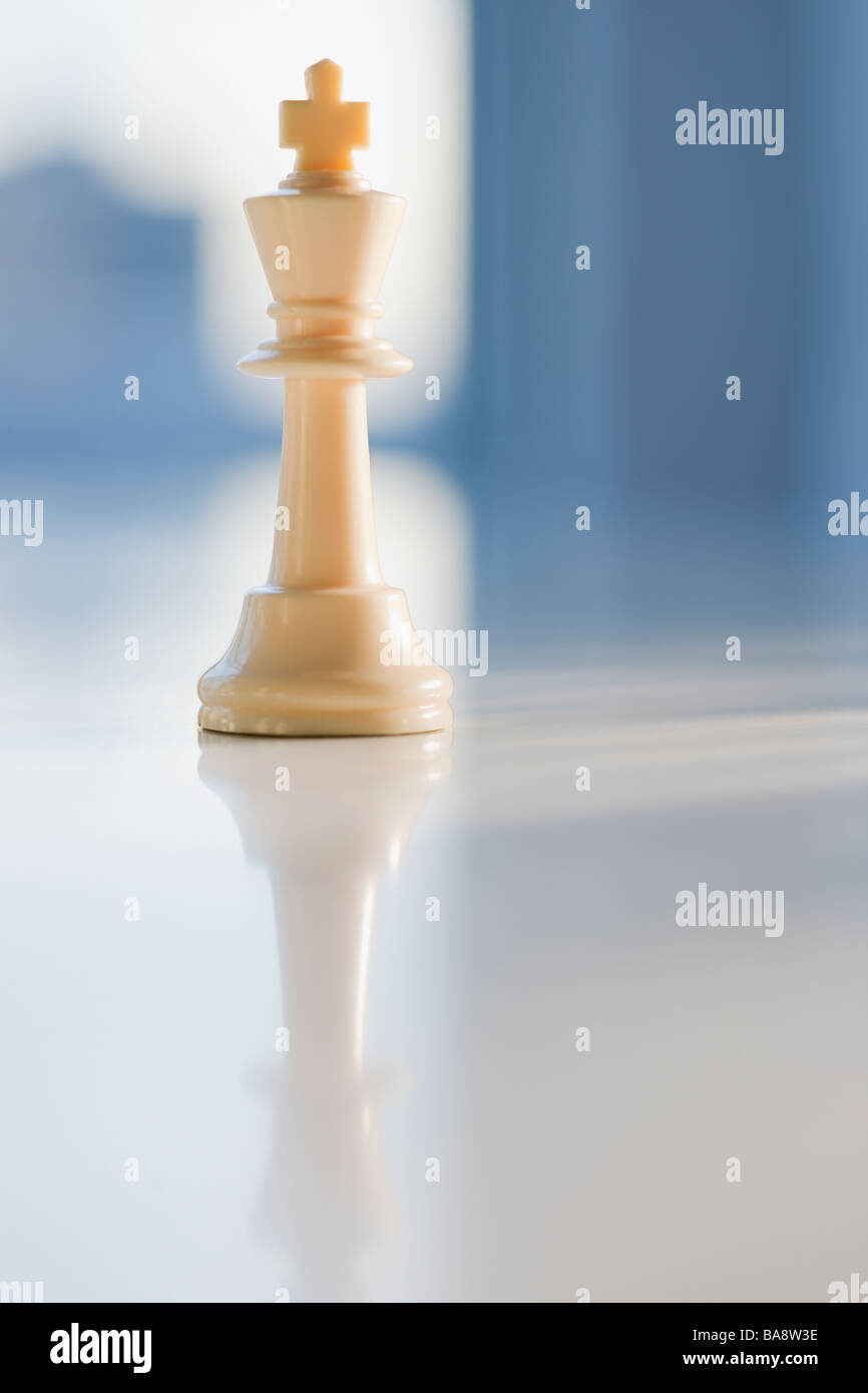 Close up of chess king - Stock Image