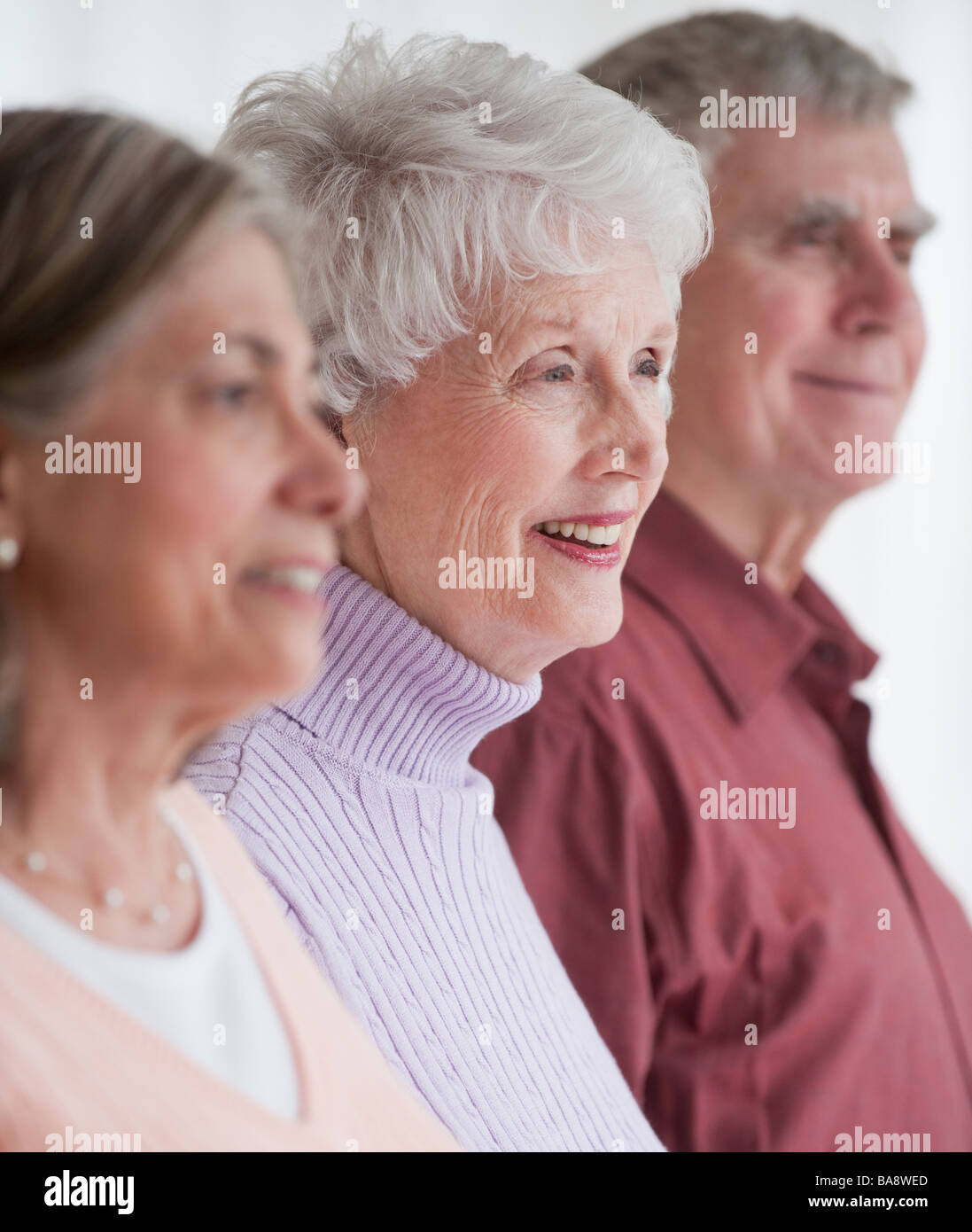 Portrait of senior adults - Stock Image