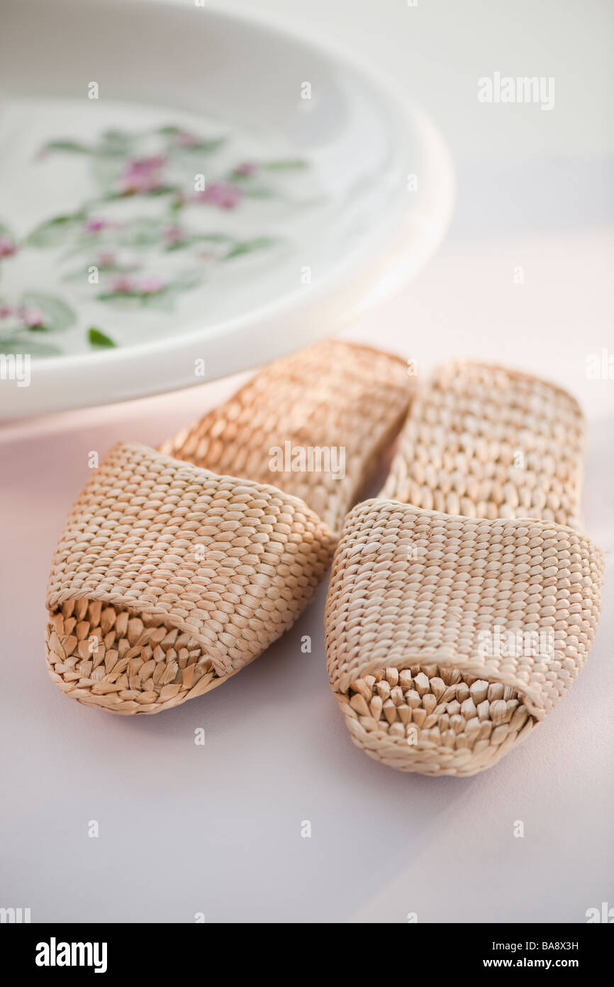 Spa slippers - Stock Image