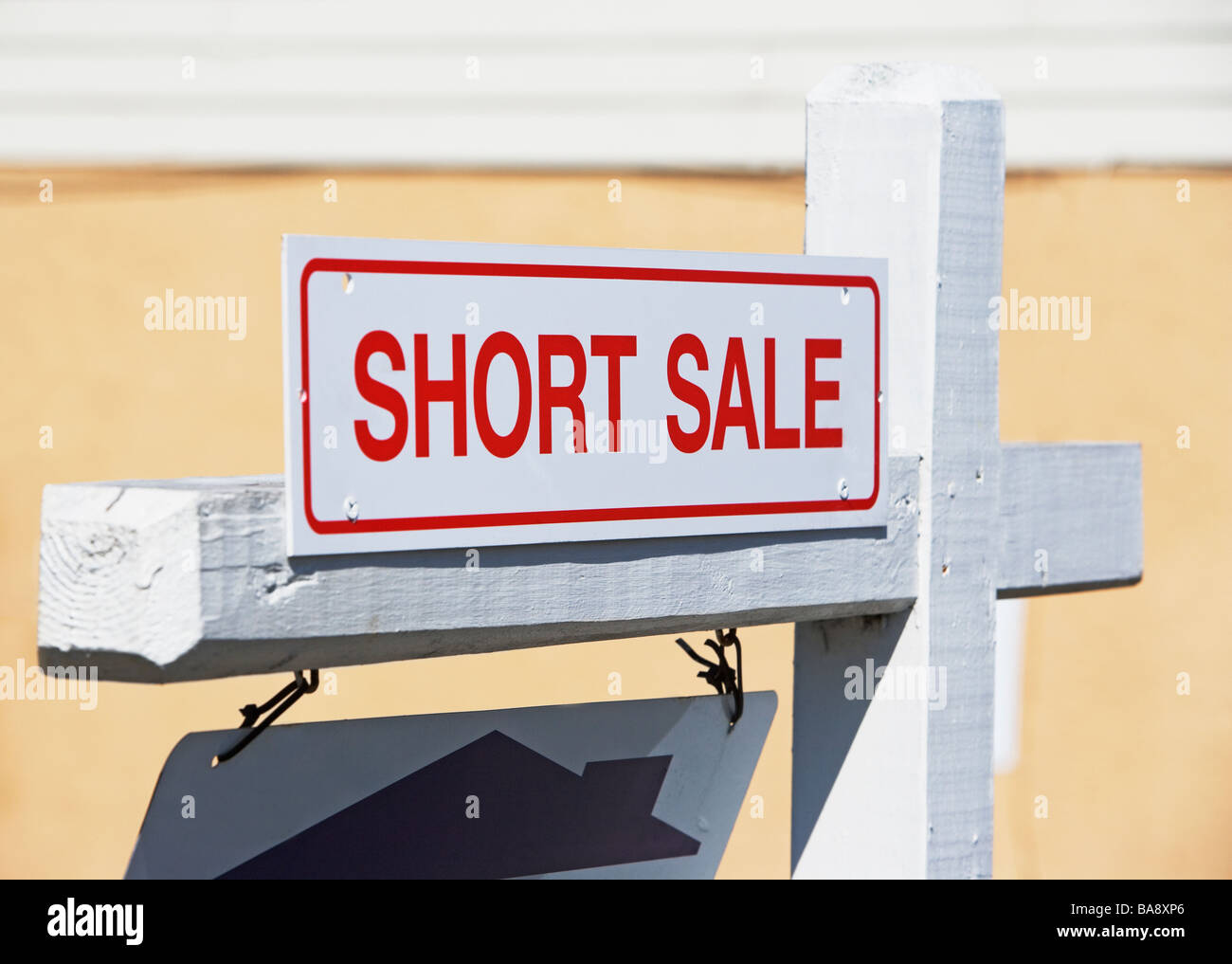 Short sale sign - Stock Image