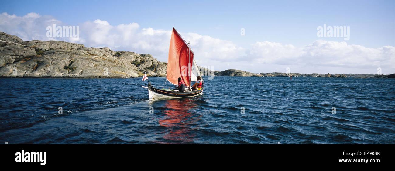 Sailing-boat at sea. - Stock Image