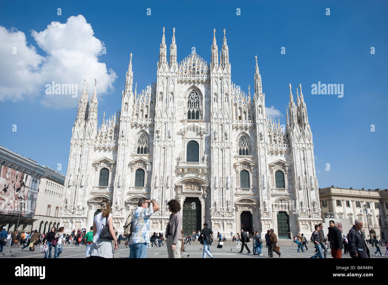 The Cathedral square in Milan, Italy. - Stock Image
