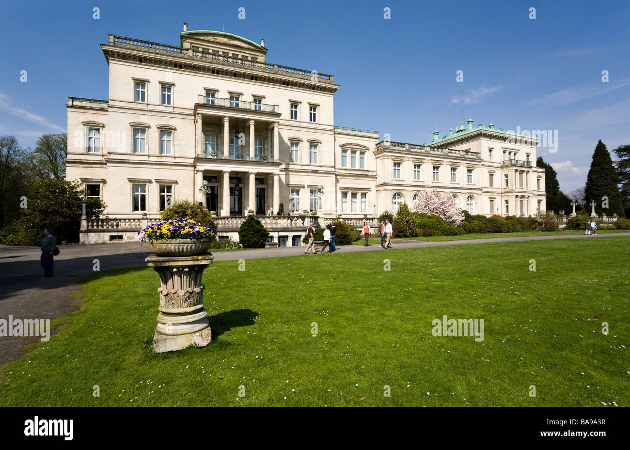 Villa Huegel in Essen, former residence of the industrial magnates family Krupp, Ruhr area, North Rhine-Westphalia, Stock Photo