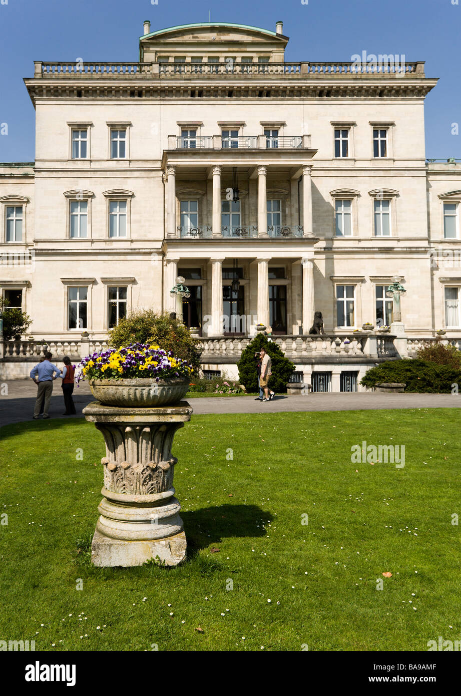 Villa Huegel in Essen, former residence of the industrial magnates family Krupp, Ruhr area, North Rhine-Westphalia, - Stock Image