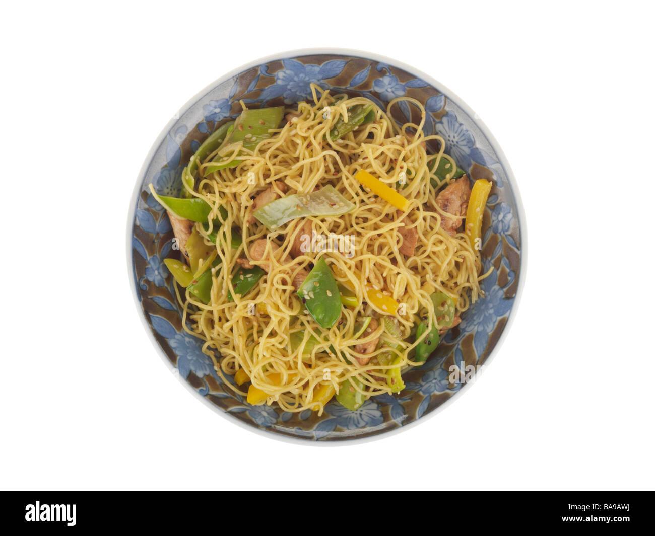 Bowl of Stir Fry - Stock Image