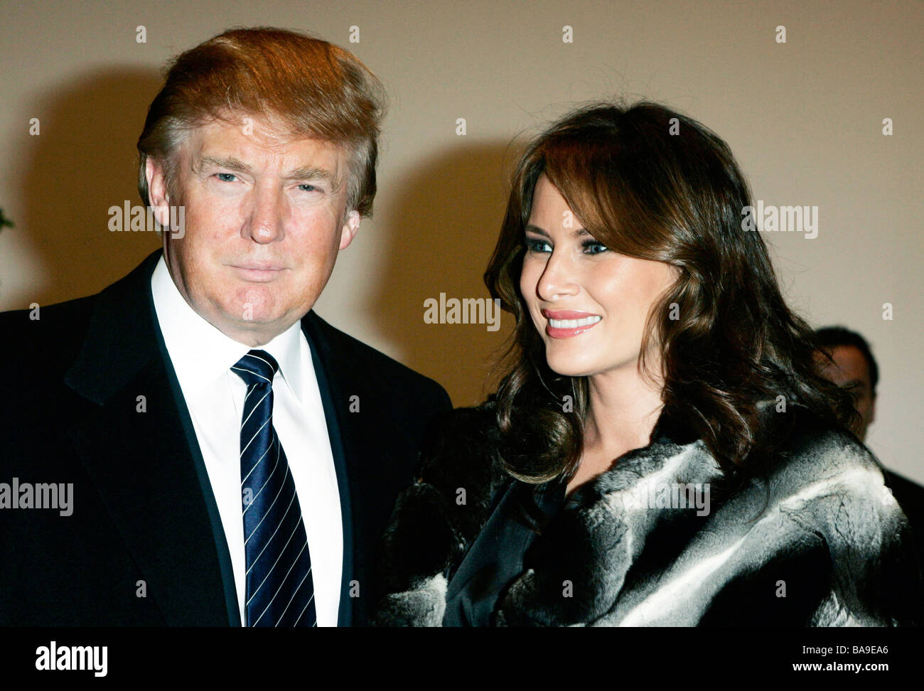 Donald Trump and his wife Melania Knauss in America at the Museum of Modern Art MOMA reception in New York - Stock Image