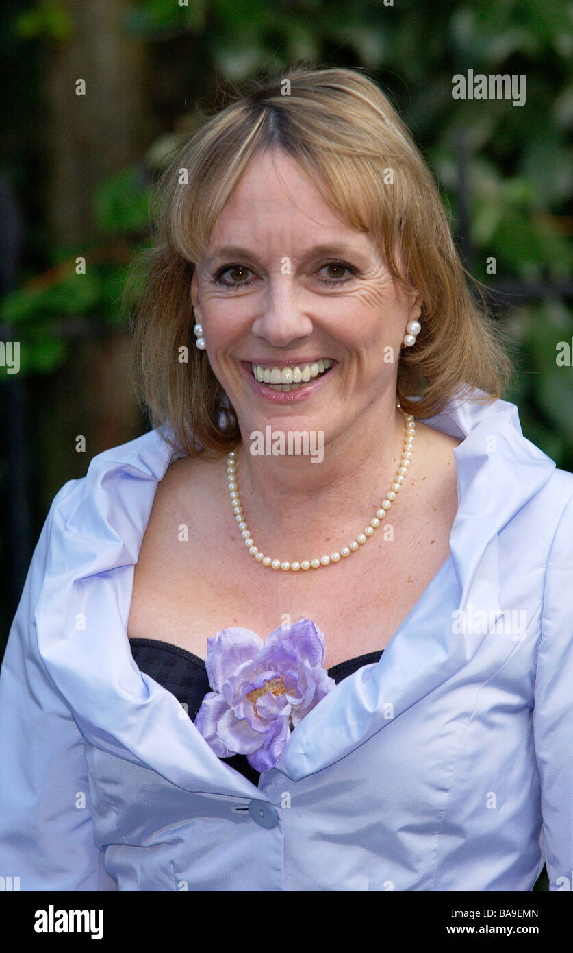 TV personality Esther Rantzen at a celebrity party in Chelsea, London - Stock Image