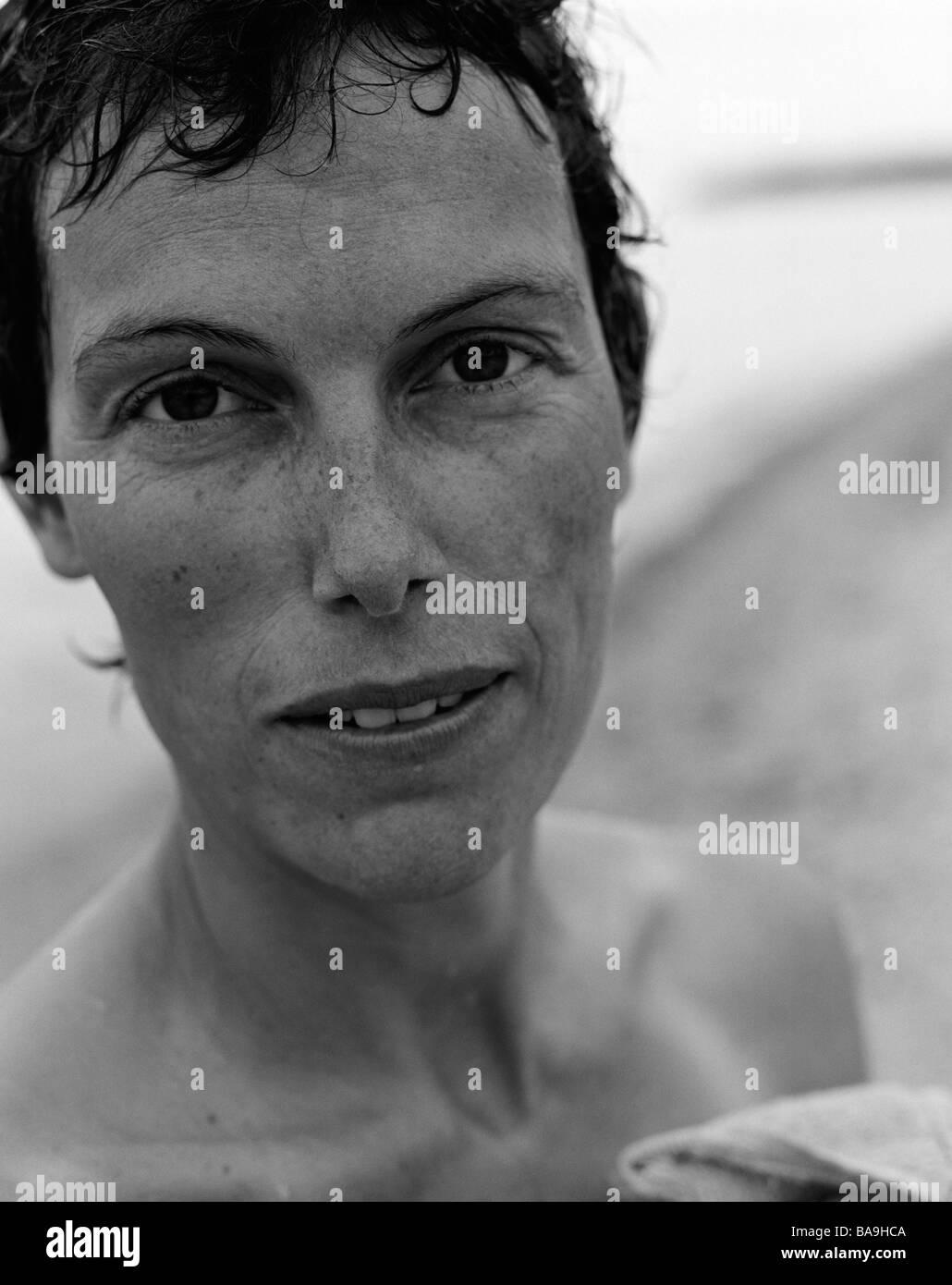 Portrait of a swedish woman. - Stock Image