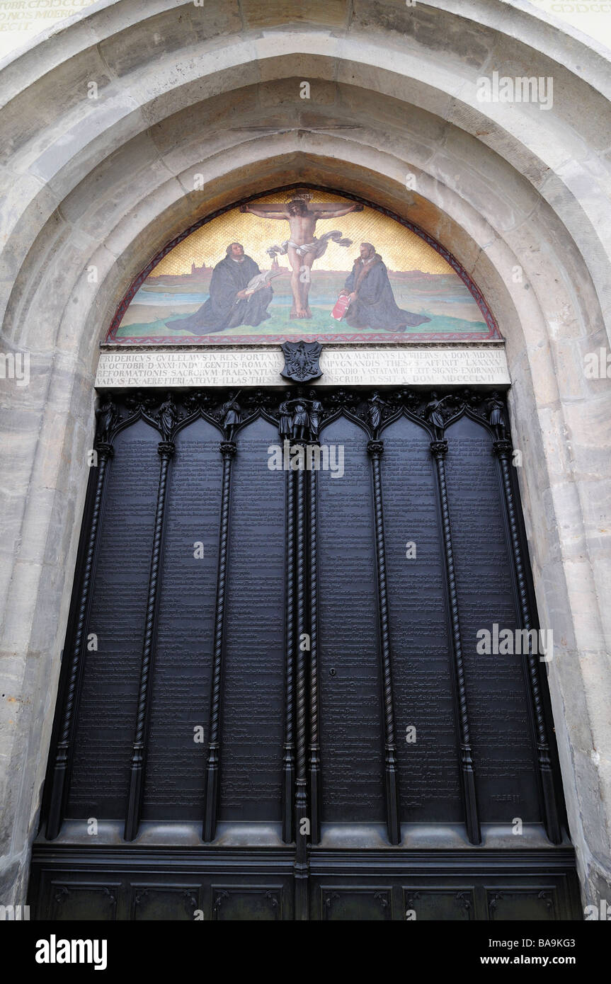Door of Wittenberg Castle Church where Martin Luther nailed his 95 theses : luther door - pezcame.com